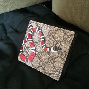 gucci wallet king snake supreme